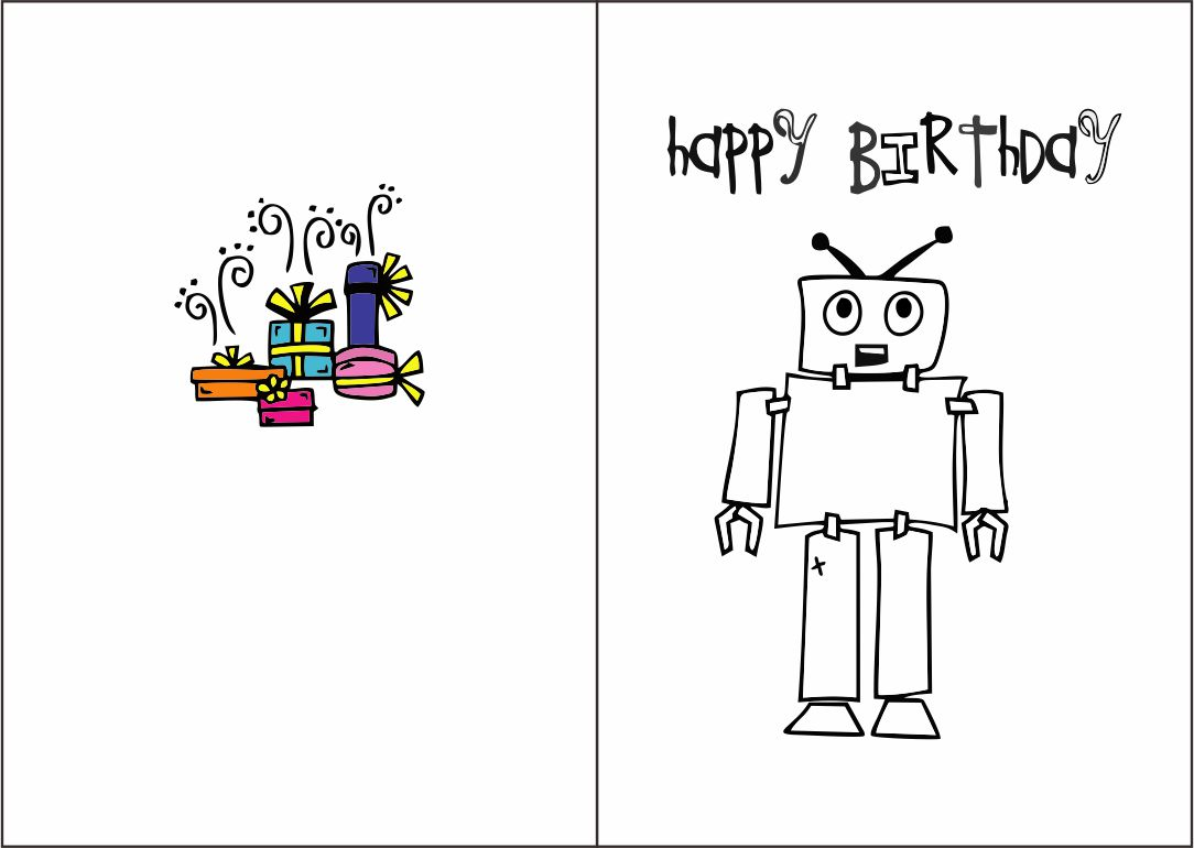 Birthday Card Coloring Pages Thank You Message Happy Page ... | 593x900