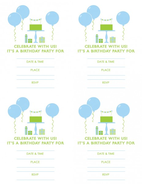 Free Printable Birthday Invitations Boy