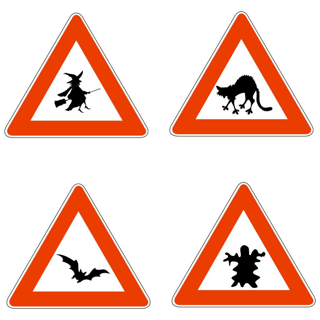 Printable Blank Halloween Signs