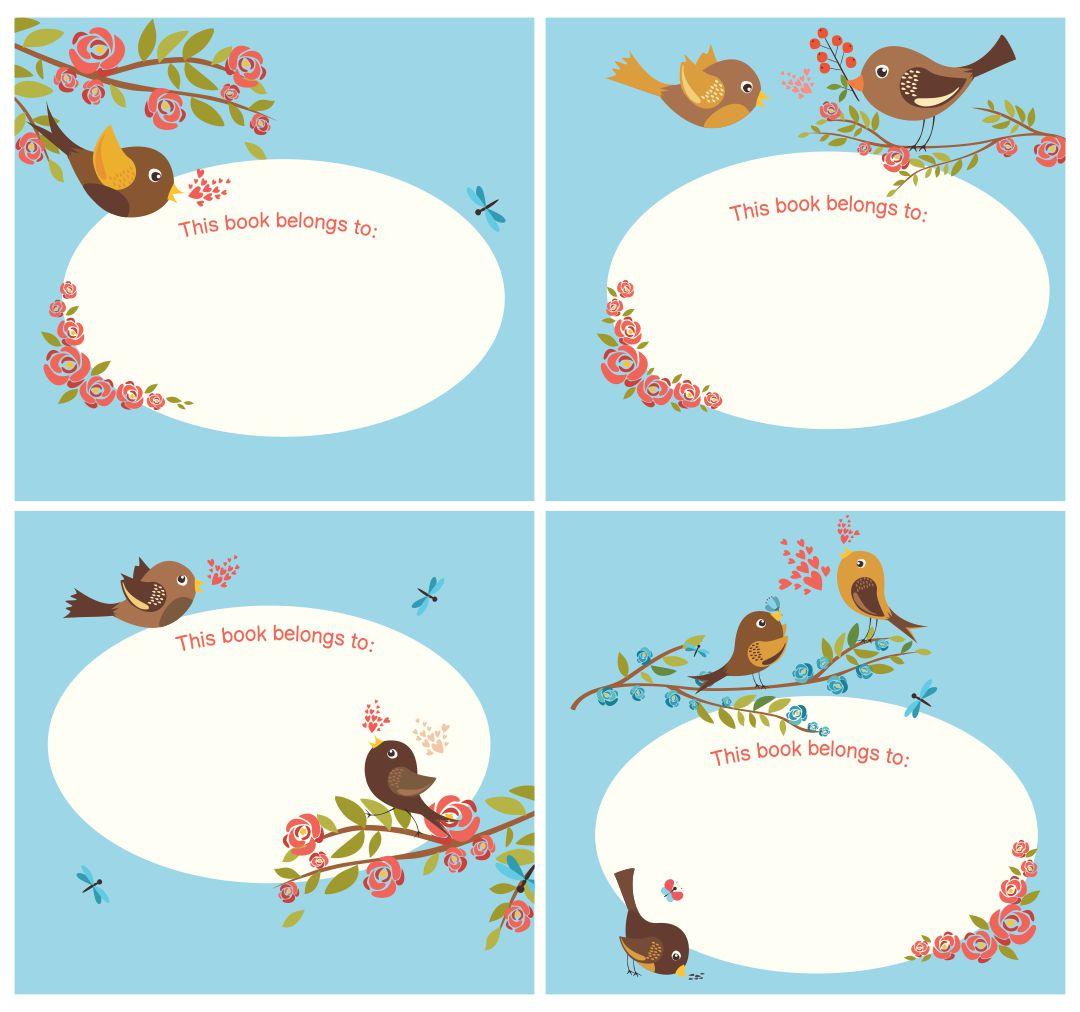 Printable Bookplates for Babies