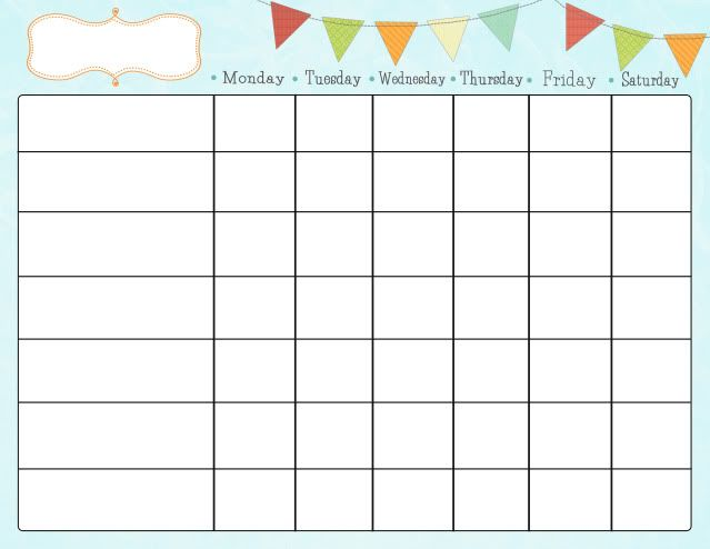 4 Images of Cute Printable Chore Charts