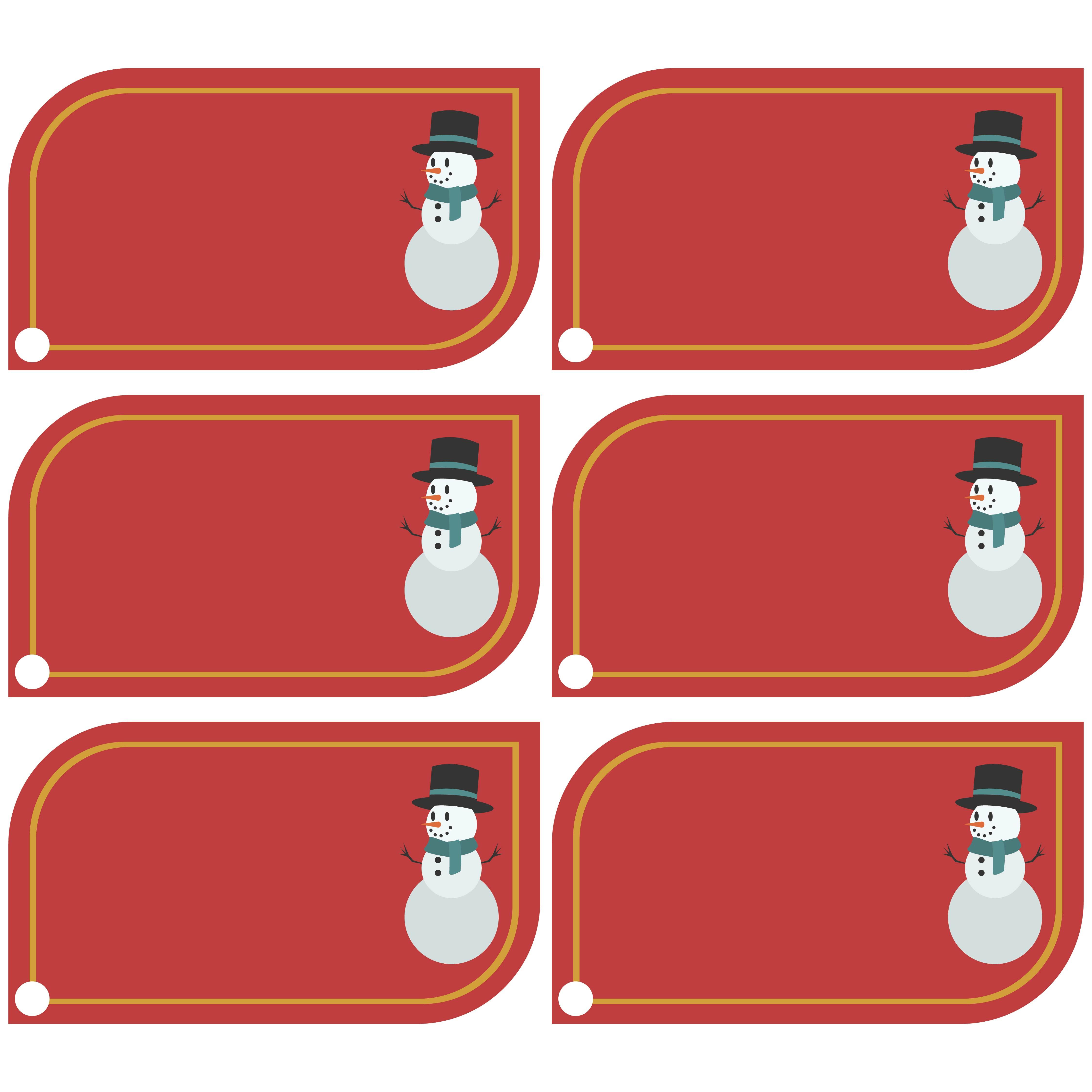 Printable Christmas Name Tags for Kids