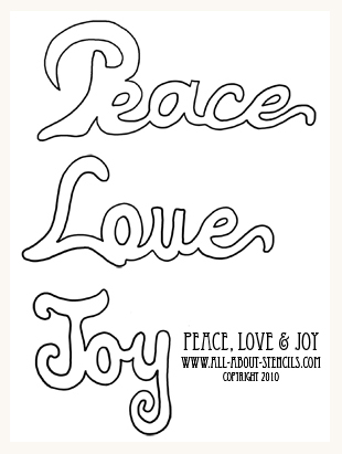 4 Images of Stencil Christmas Words Printable