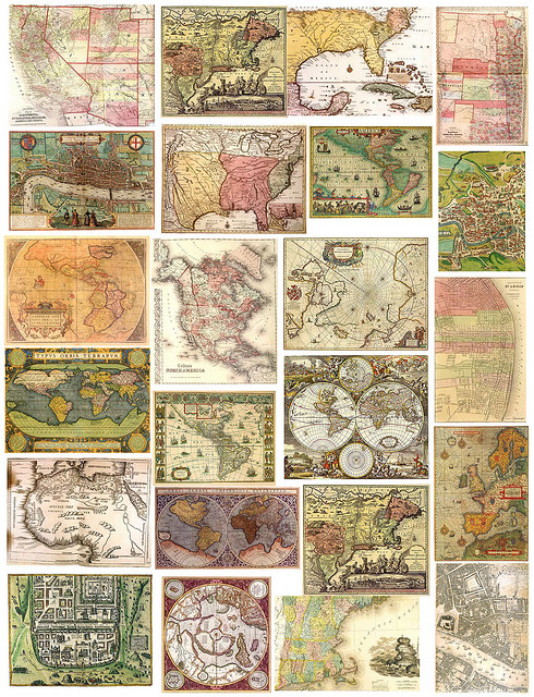 6 Images of Free Printable Vintage Maps
