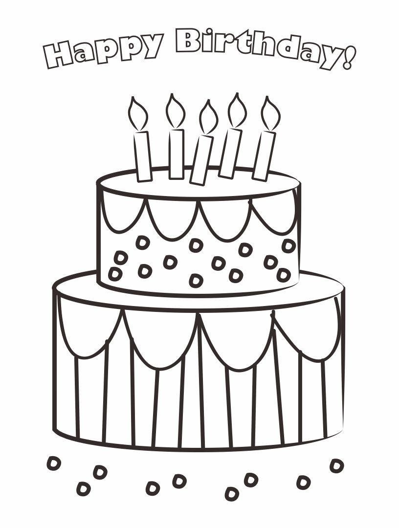 5 best images of printable birthday cards to color