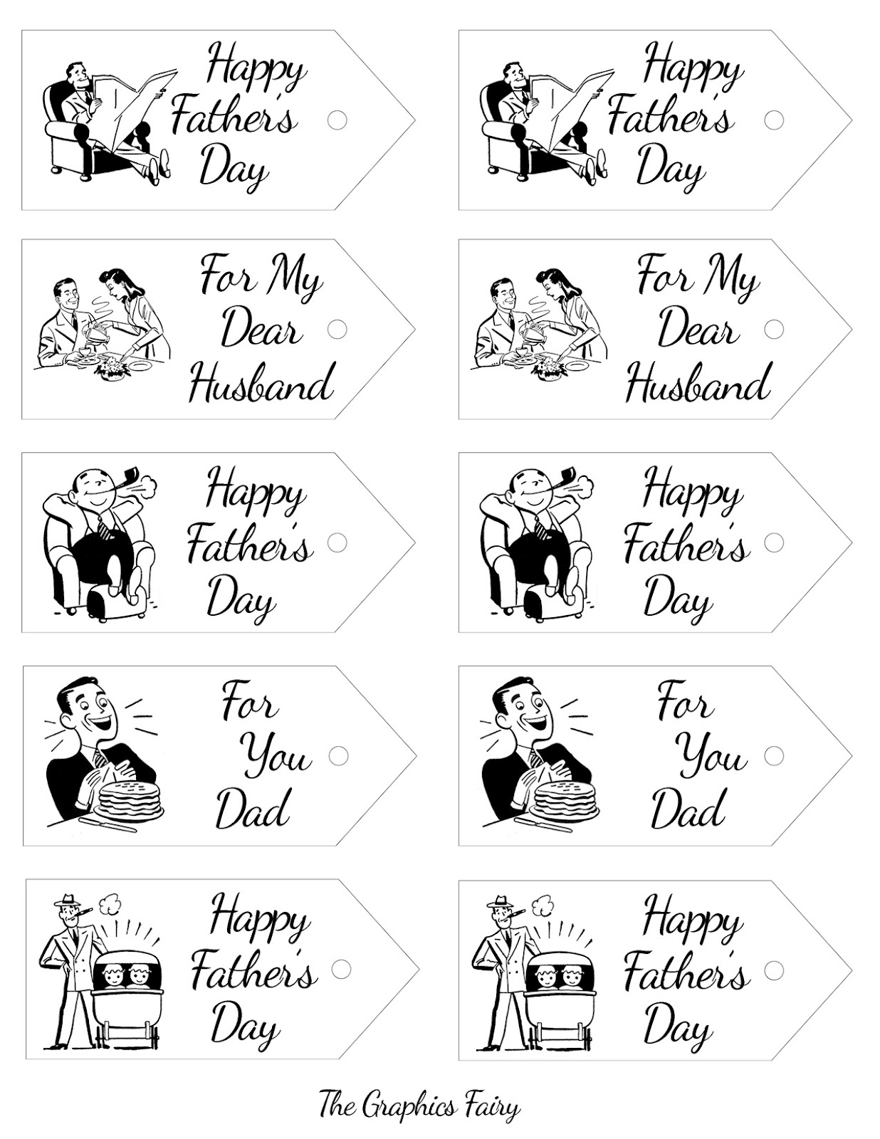 7 Images of Father's Day Printable Gift Tags