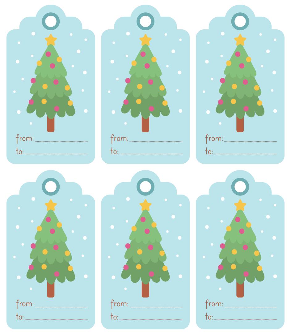 Free Printable Gift Tags Christmas Tree