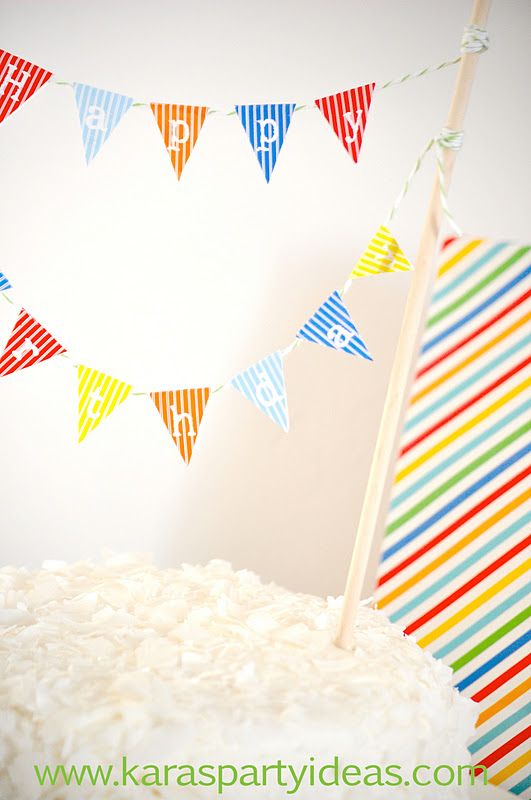 6 Images of Happy Birthday Printable Mini Pennants