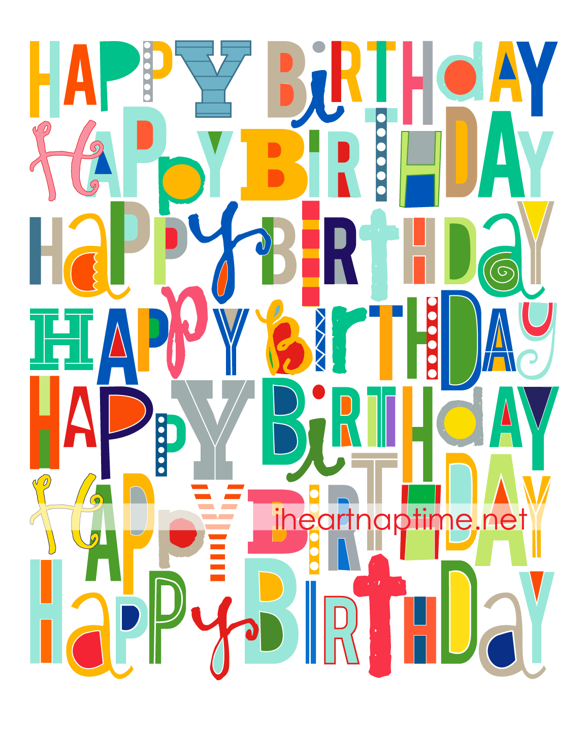 9 Images of Happy Birthday Printables