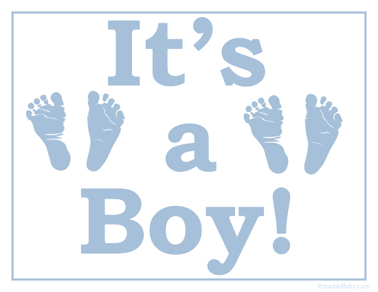 5 Images of It S A Boy Printable