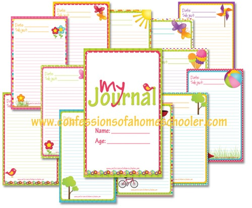 4 Images of Reading Journal Free Printable Templates