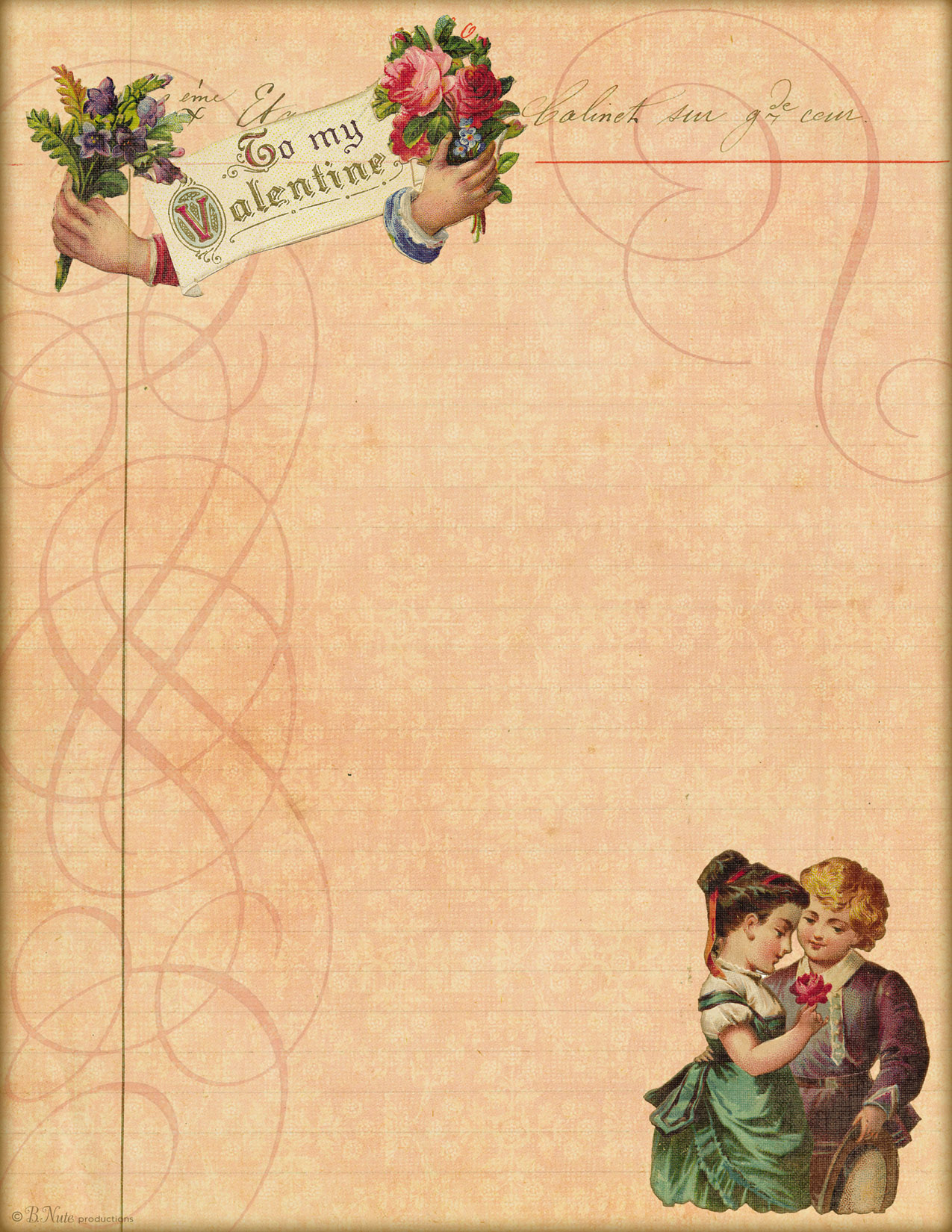 8 Images of Printable Paper Vintage Love Letter