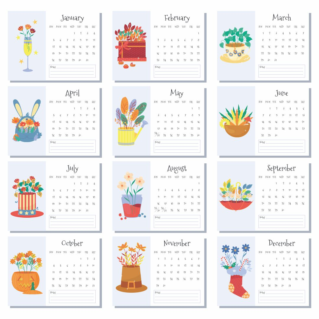 Printable Months Of Year Cards