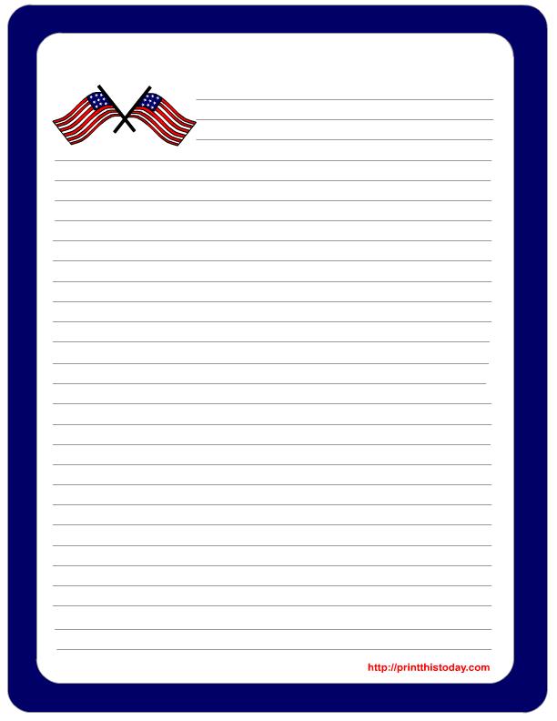 5 Images of Printable Patriotic Paper