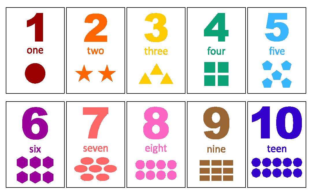 Printable Preschool Number Flash Cards
