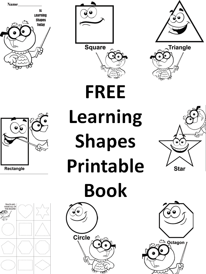 5 Images of Shapes Booklets Printables