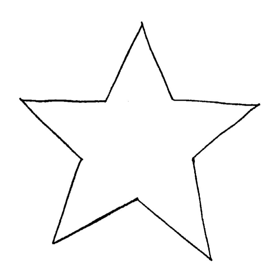 7 best images of free printable primitive star template for Star template free