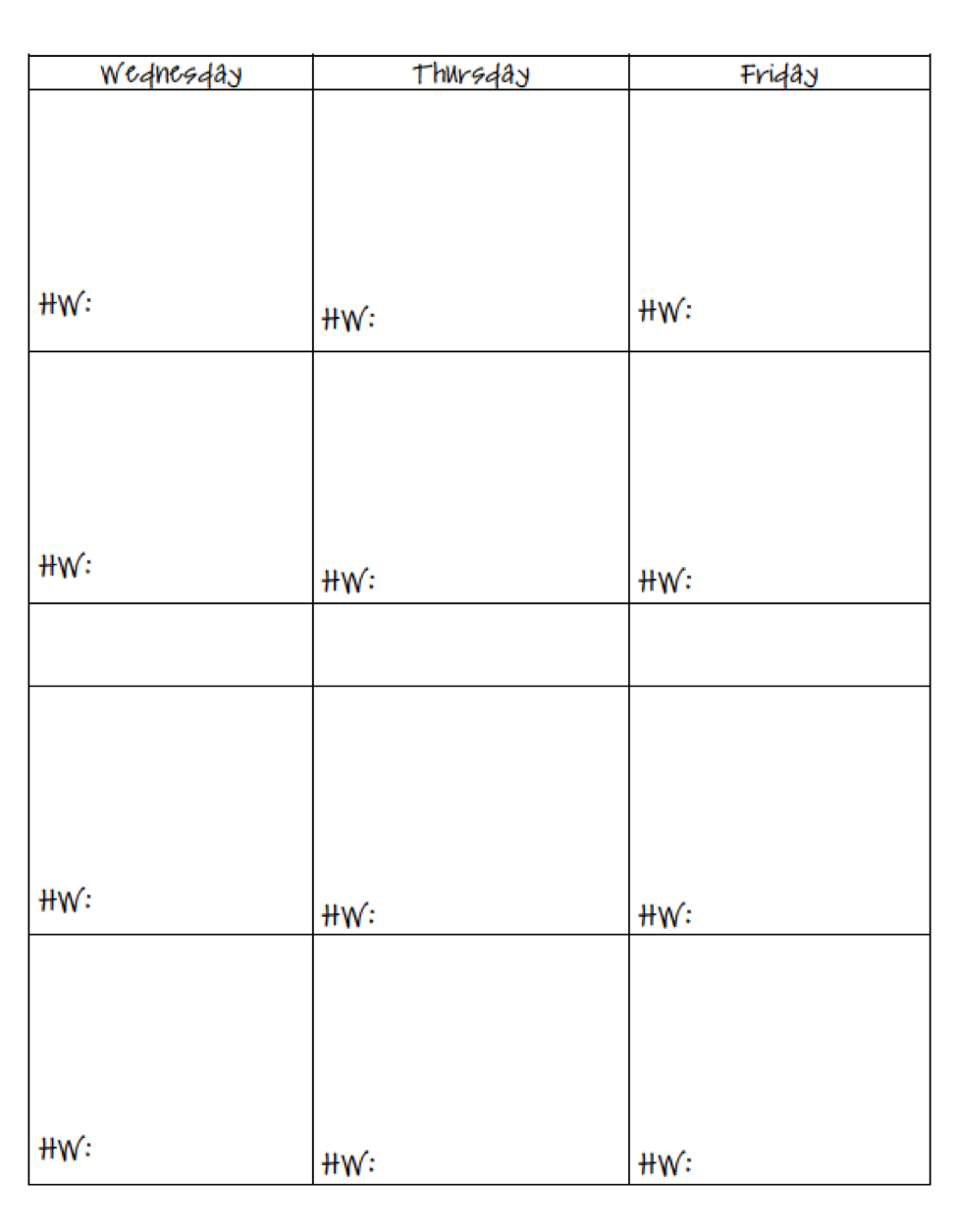 7 Images of Printable Teacher Planning Pages