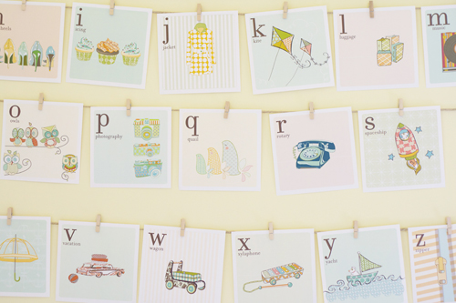 6 Images of Alphabet Nursery Printable Art