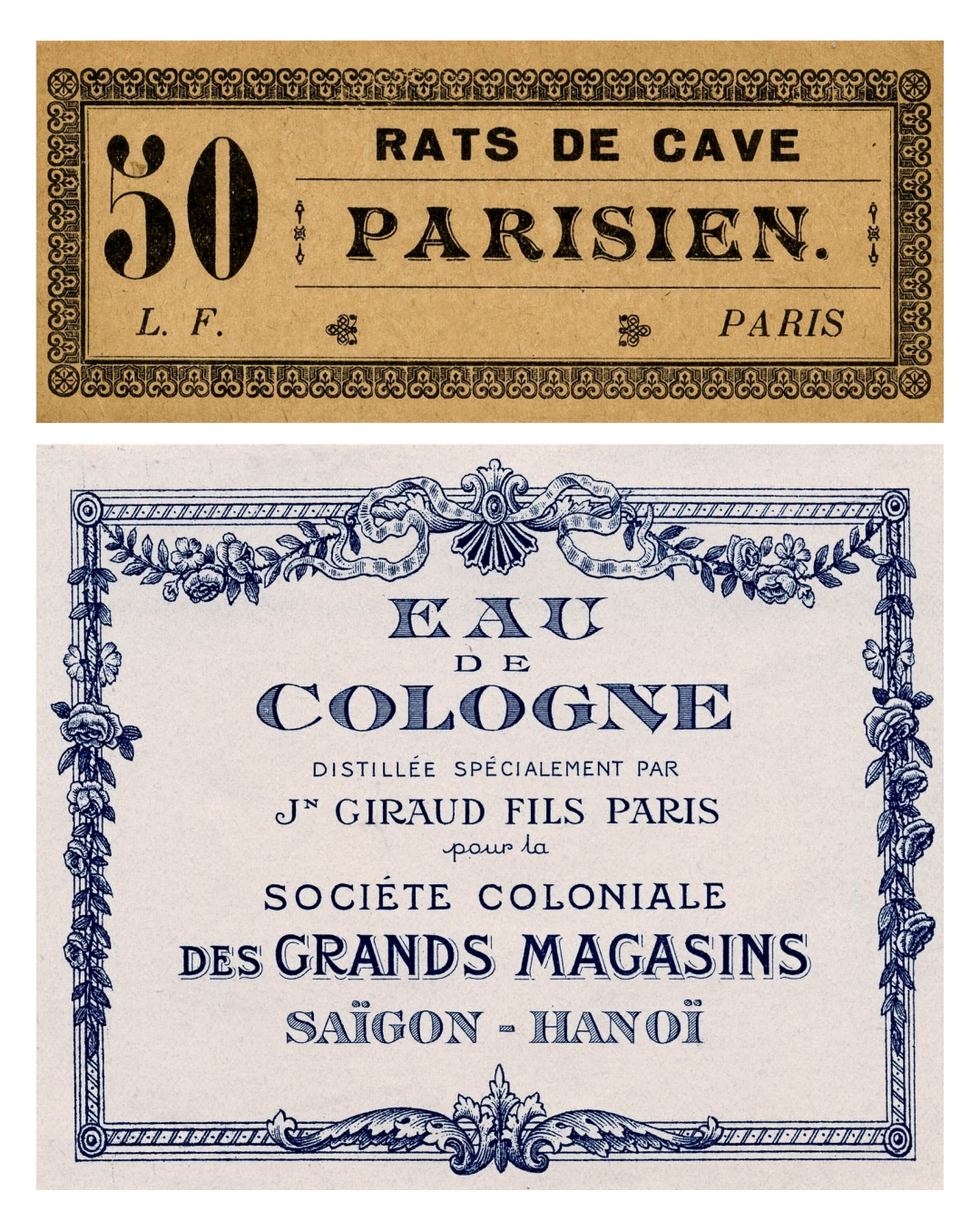 Printable Vintage Paris Labels