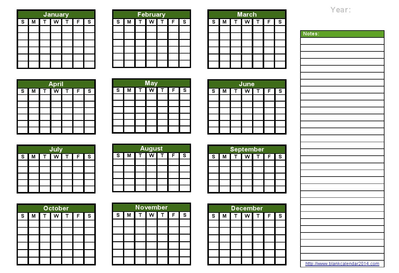 6 Images of Free Printable Yearly Calendar