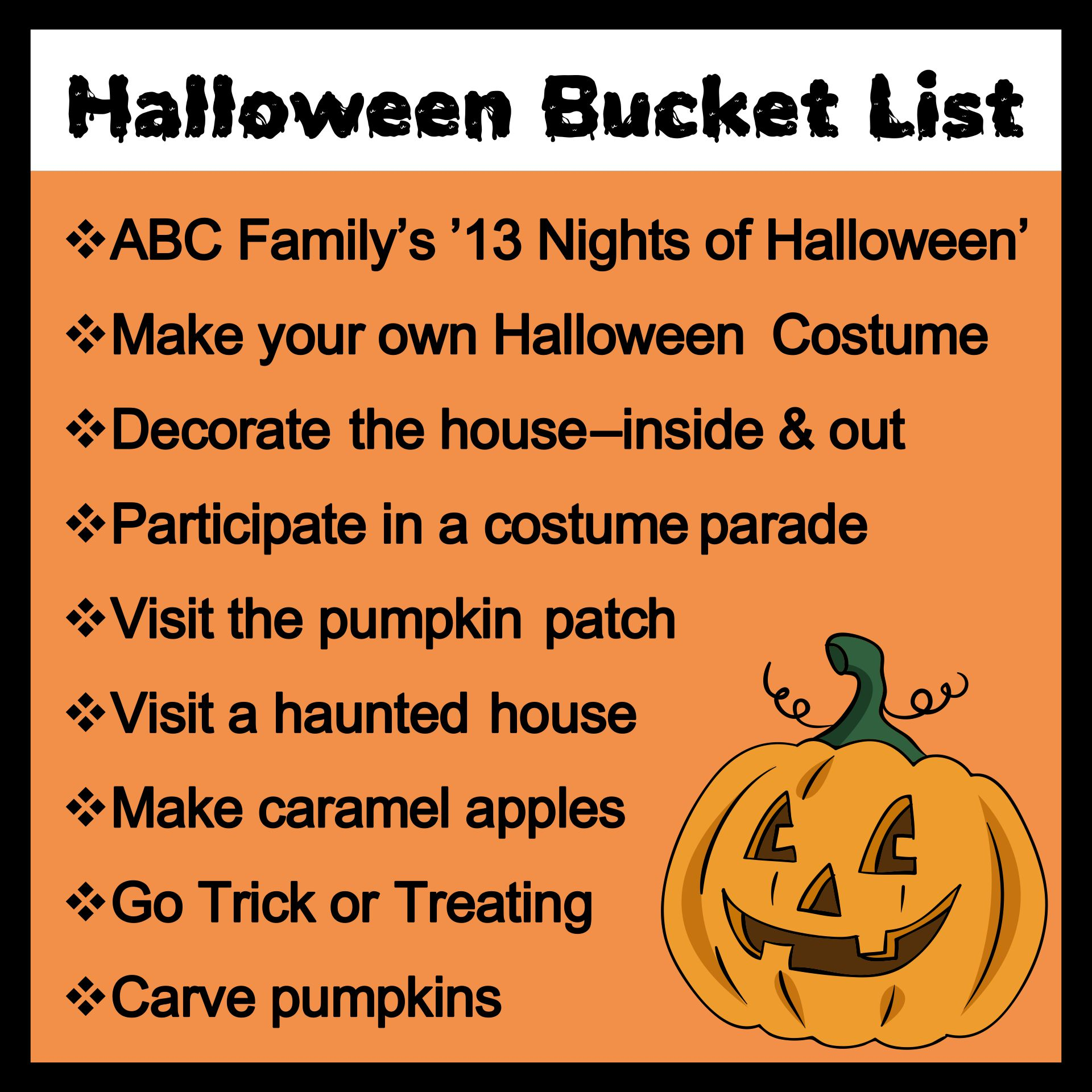 Things to Do Halloween