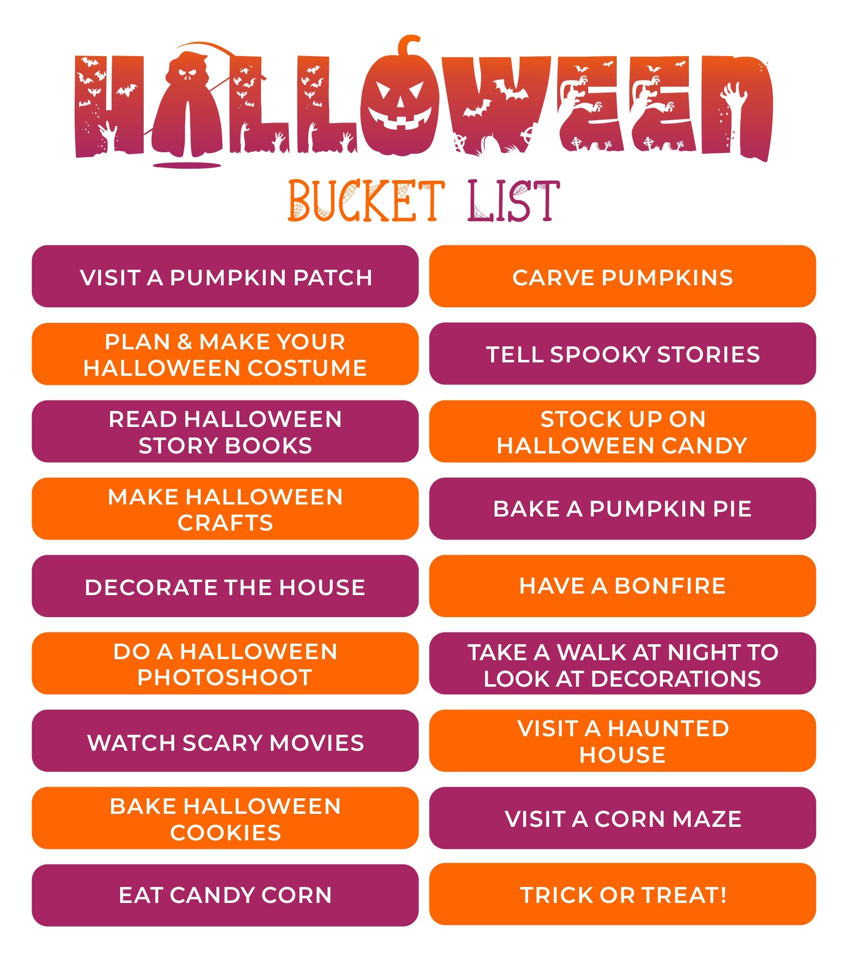 Halloween Bucket List