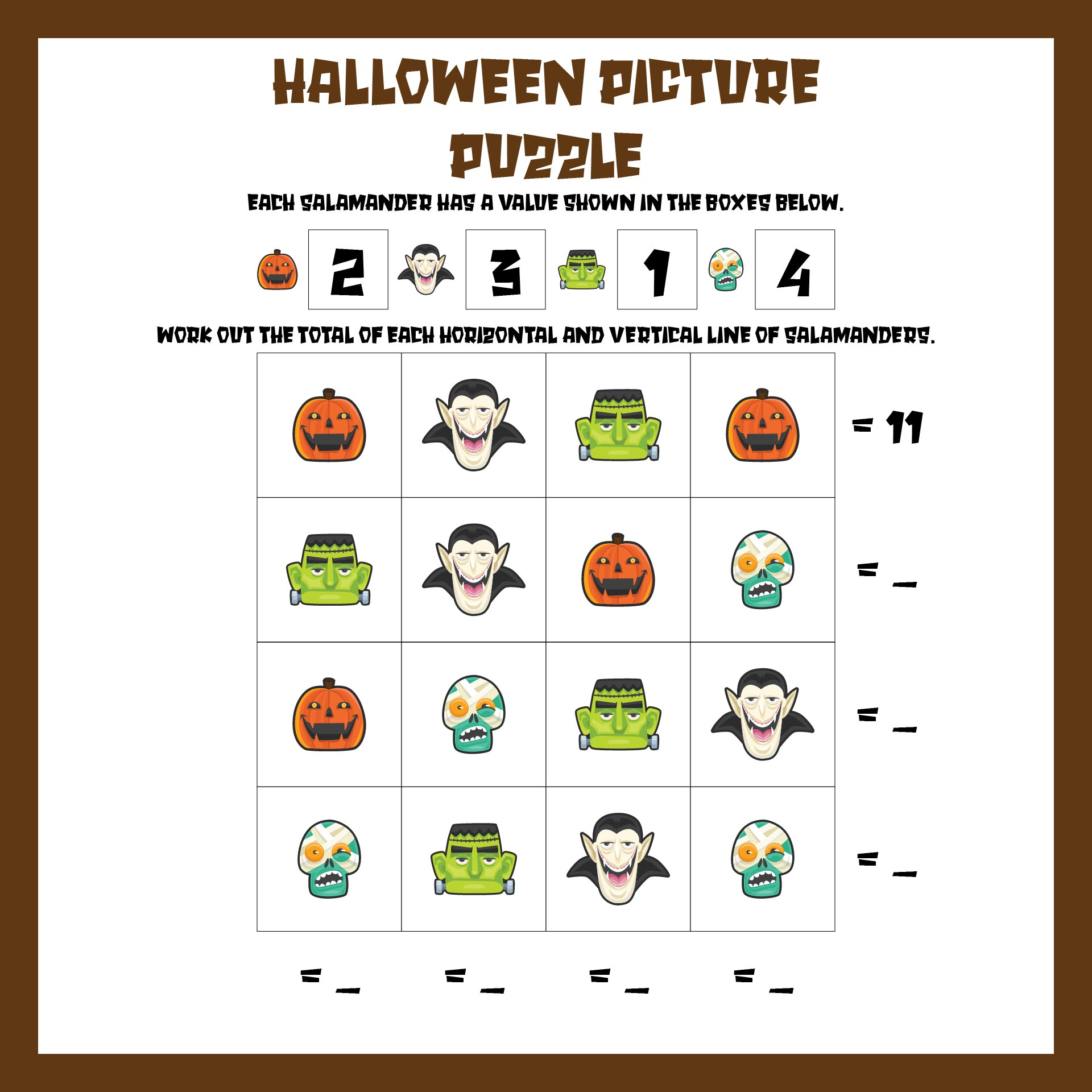 math worksheet : 5 best images of halloween printable phonics worksheets  free  : Halloween Math Worksheets Grade 5