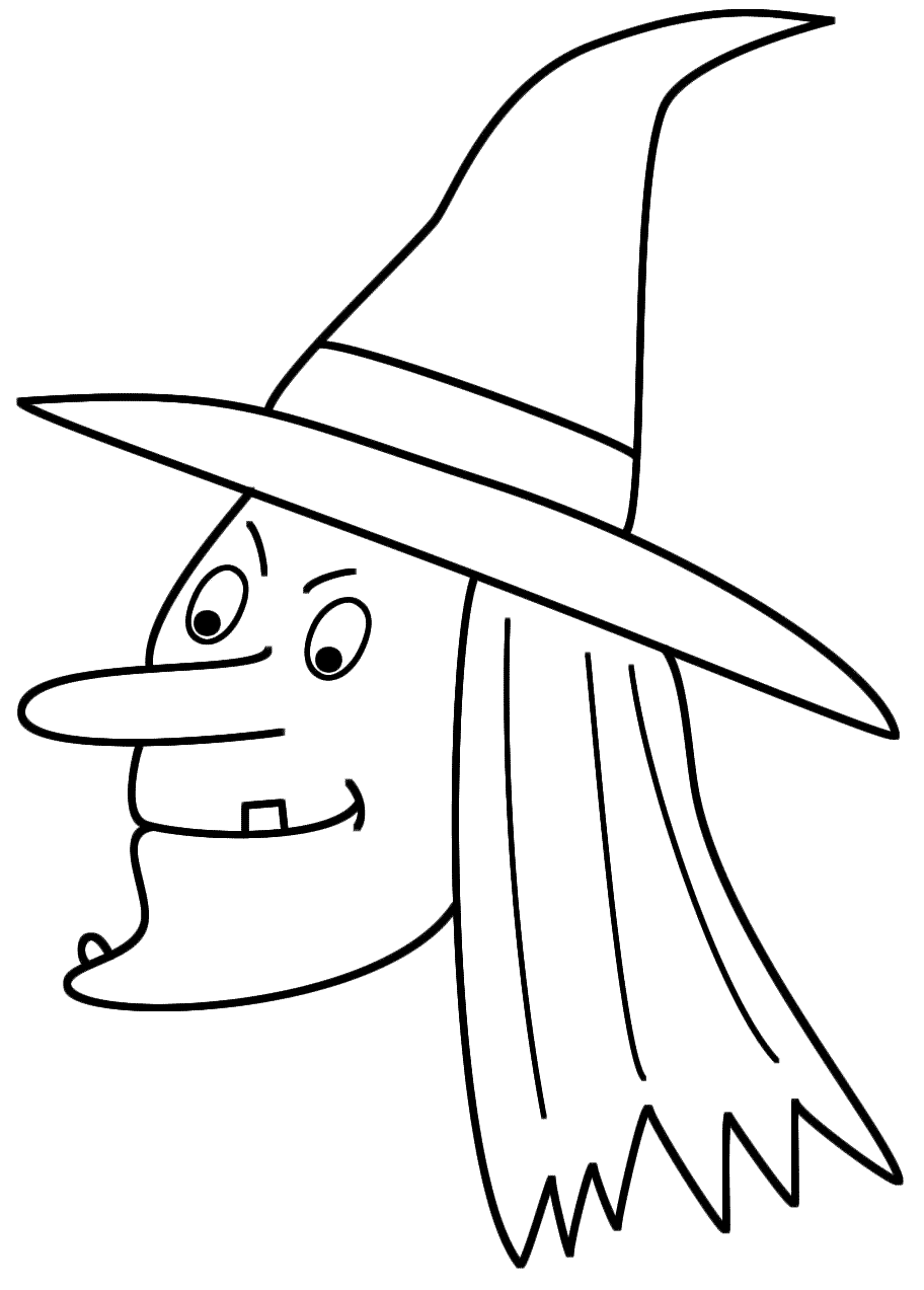 5 Images of Witch Faces Coloring Pages Printable