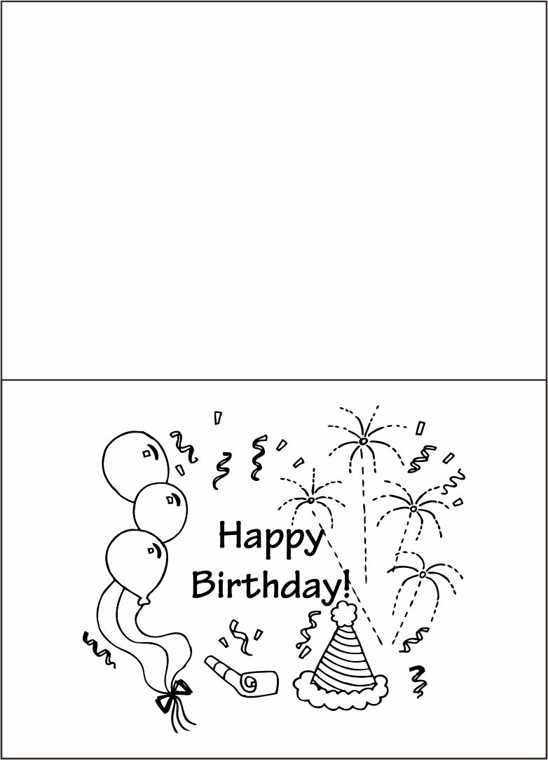 Happy Birthday Coloring Cards Printable