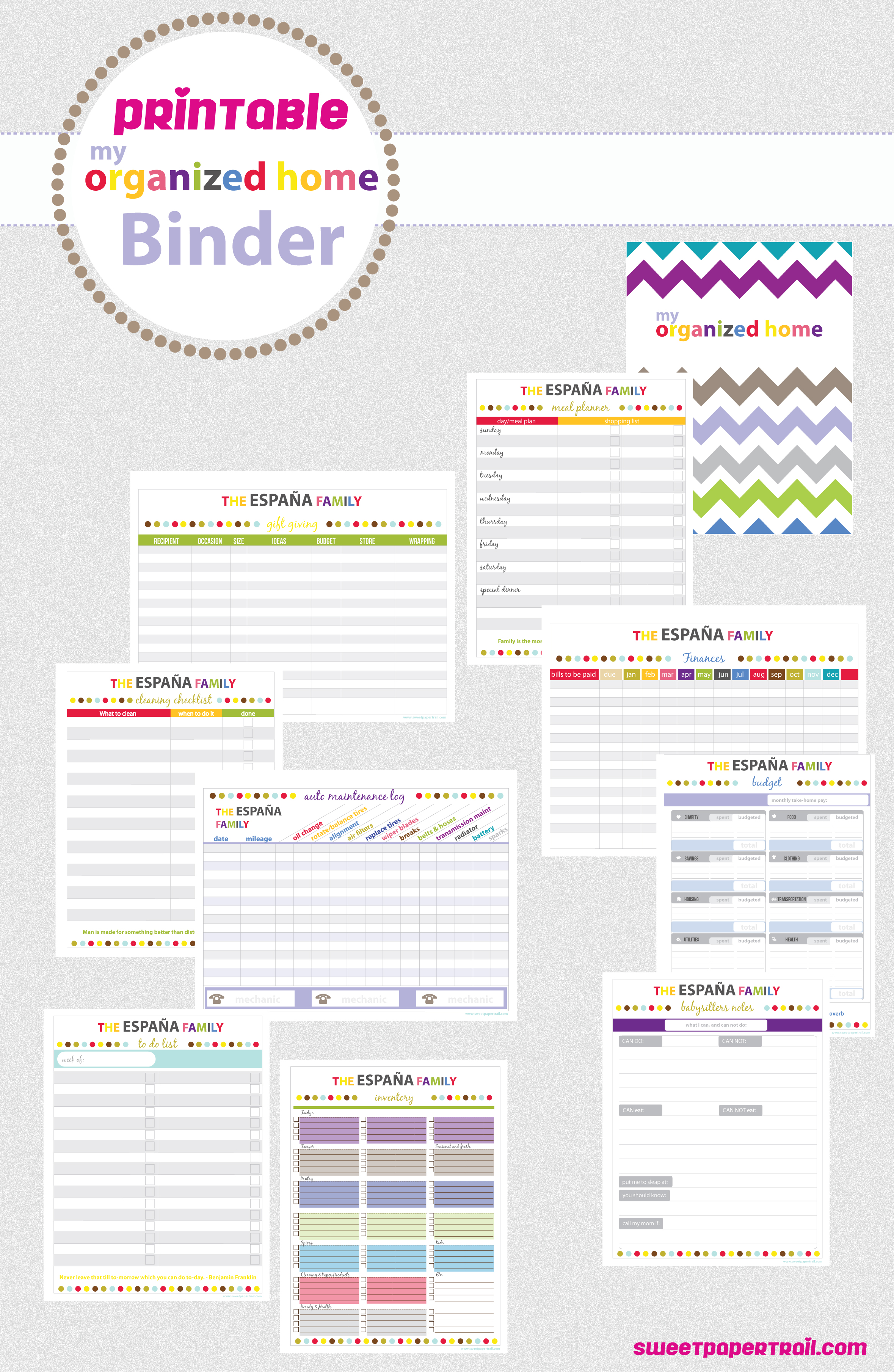 8 Images of Organization Binder Printable Planner Templates