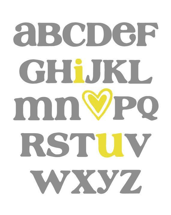 I Love You Wall Art ABC Printables