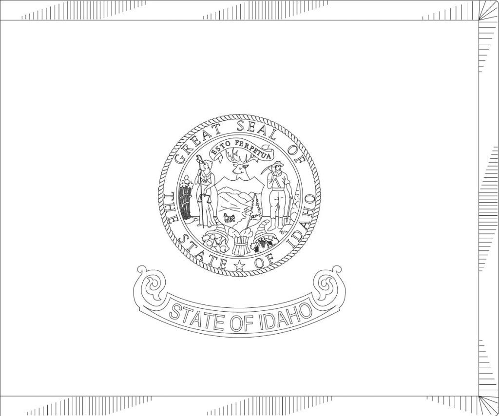 idaho state flag coloring page 5 best images of printable flag of idaho idaho state