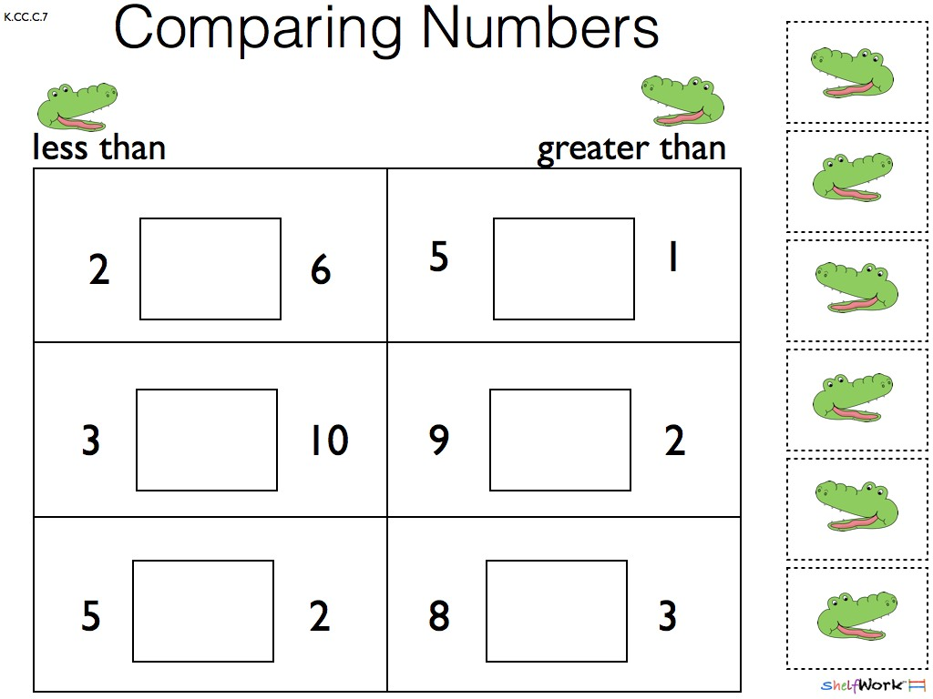 Comparison Worksheets For Kindergarten - Laptuoso