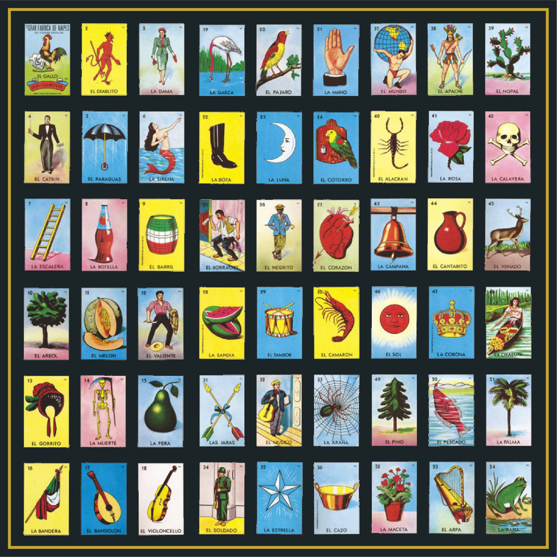 Mexican Bingo Cards Free Printable