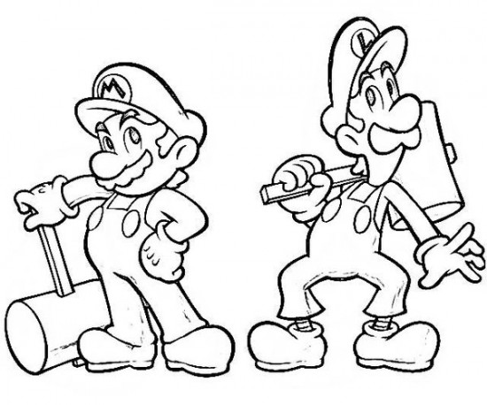 9 Images of Mario And Luigi Printable Coloring Pages