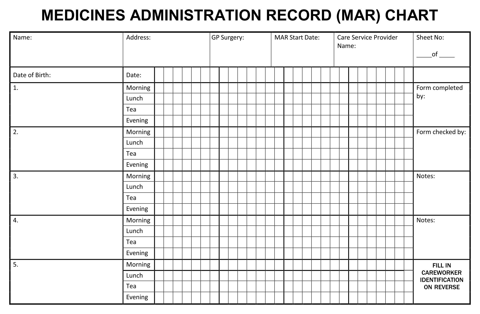 Medication Administration Record Form