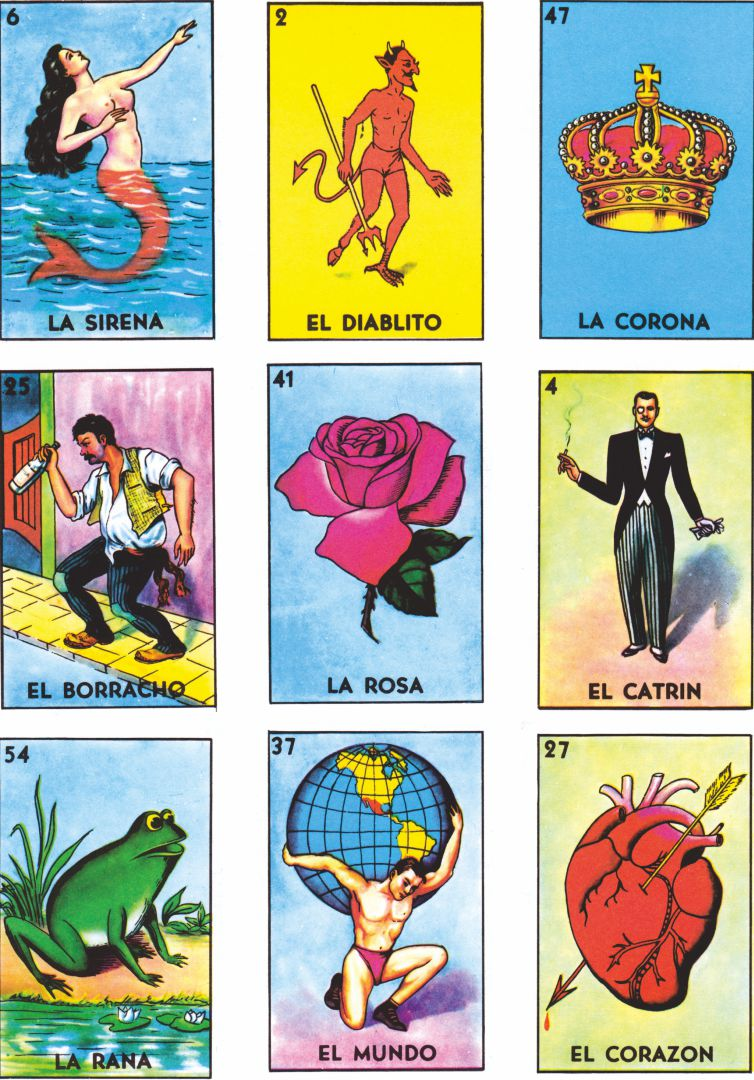 Mexican Bingo Cards Loteria Print