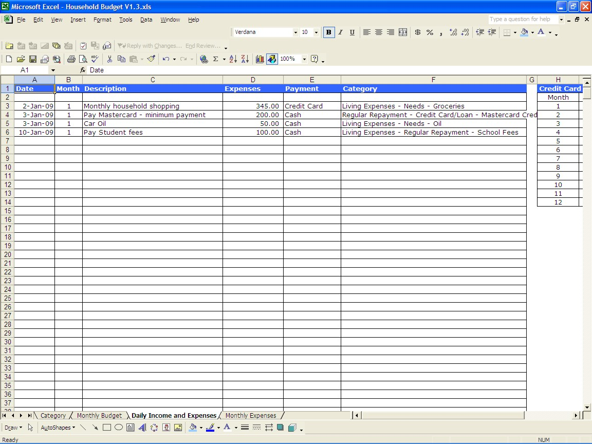 5 best images of household expense sheet printables for Empty spreadsheet templates