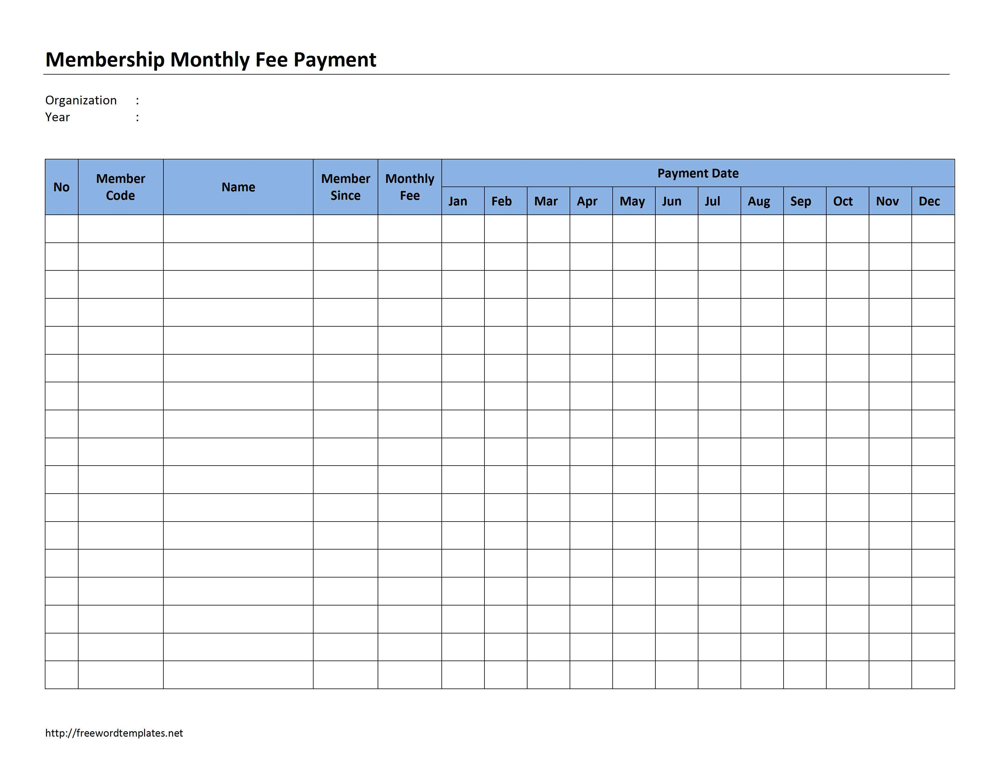 7 best images of free printable payment record
