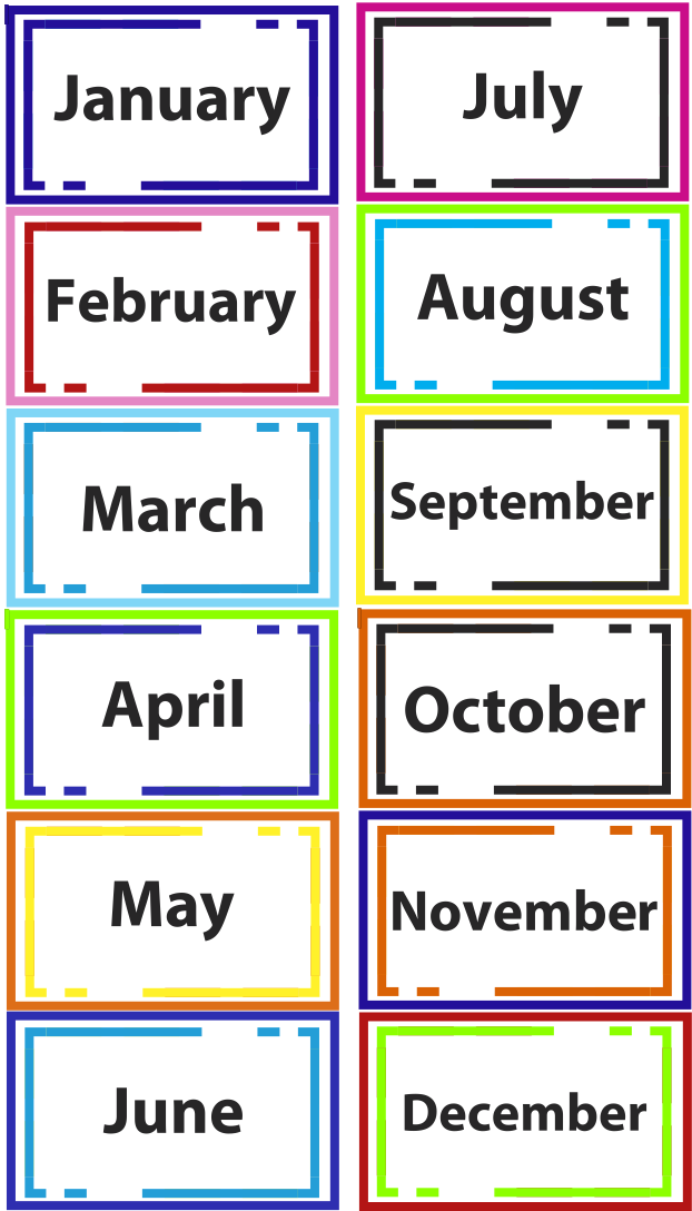 Months Seasons of the Year Printables