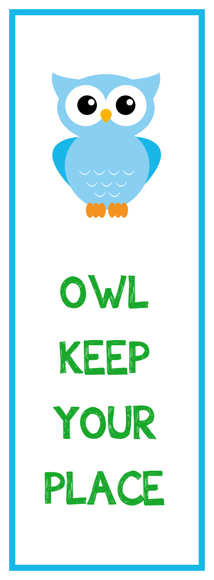 7 Images of Owl Bookmark Printable