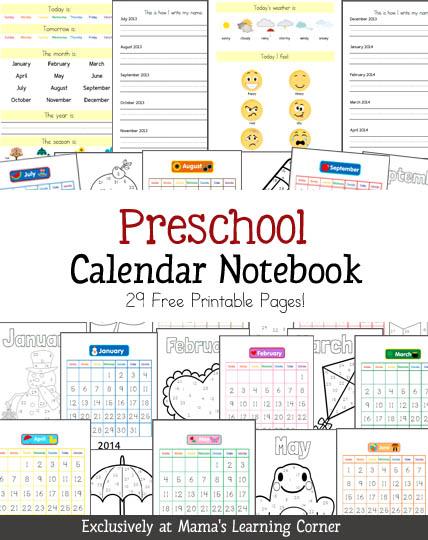 6 Images of Preschool Printable Weather Calendar