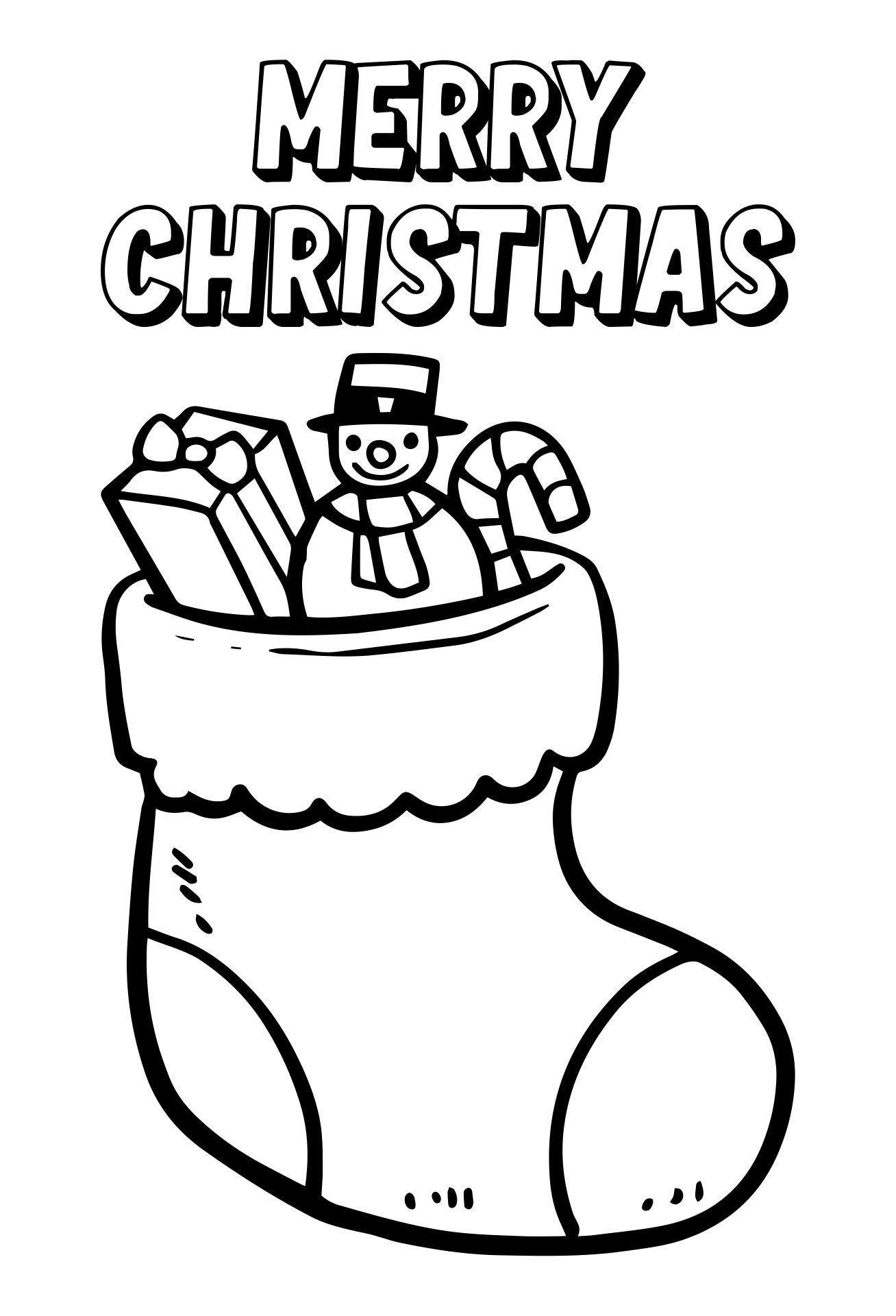 Preschool Printable Christmas Coloring Pages