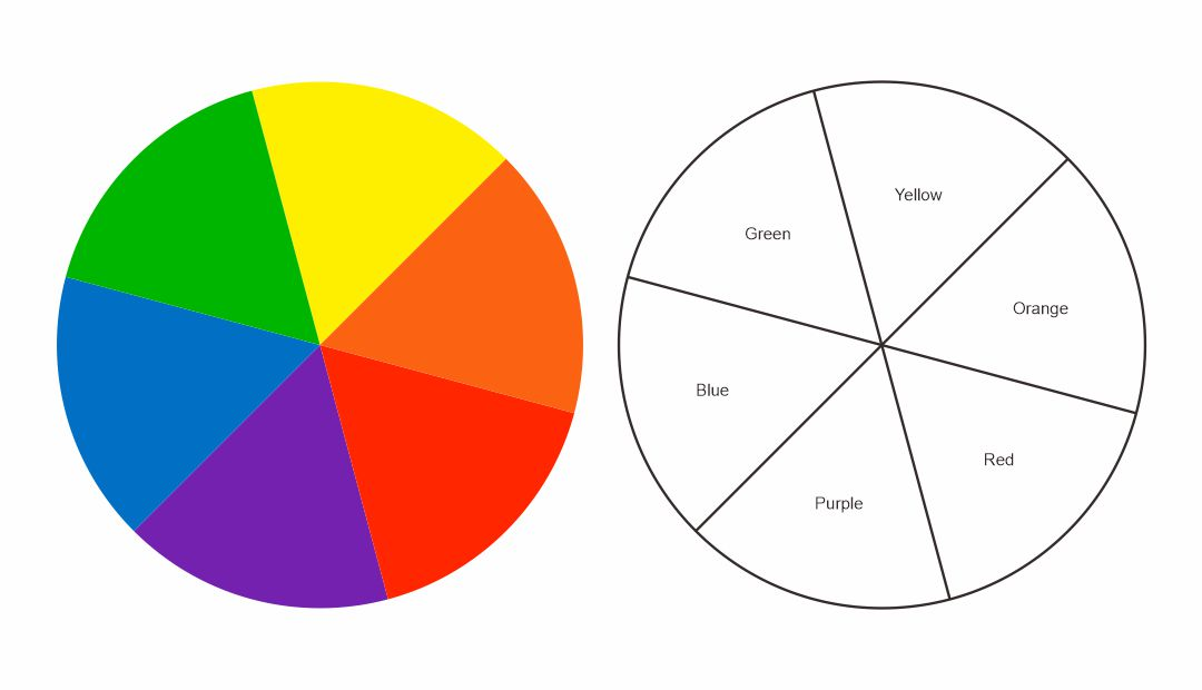 Primary Color Wheel Printable
