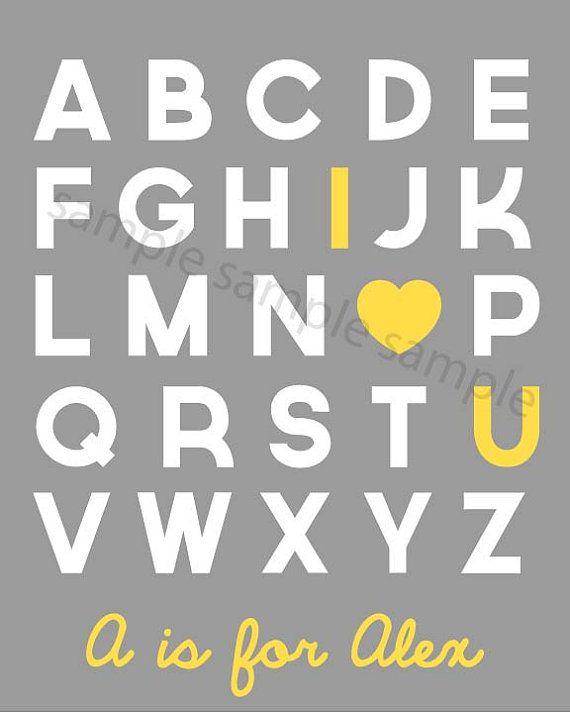 Printable Alphabet I Love You