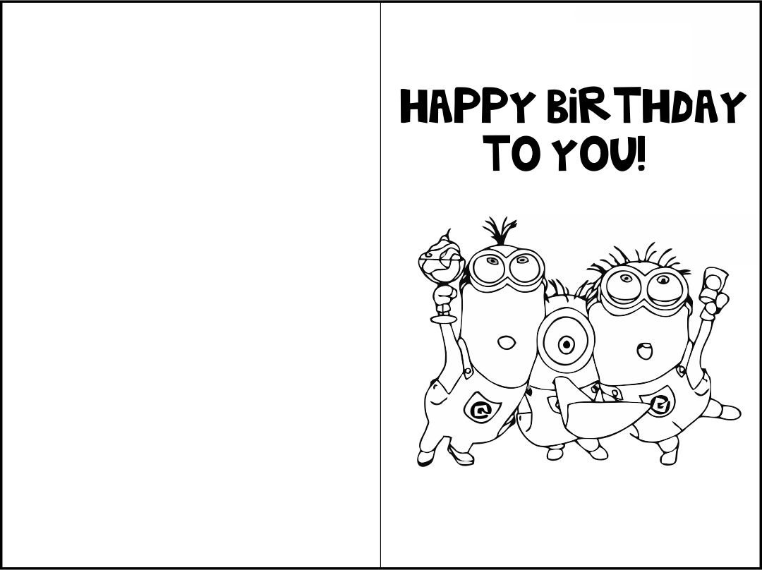 5 Images of Printable Birthday Cards To Color