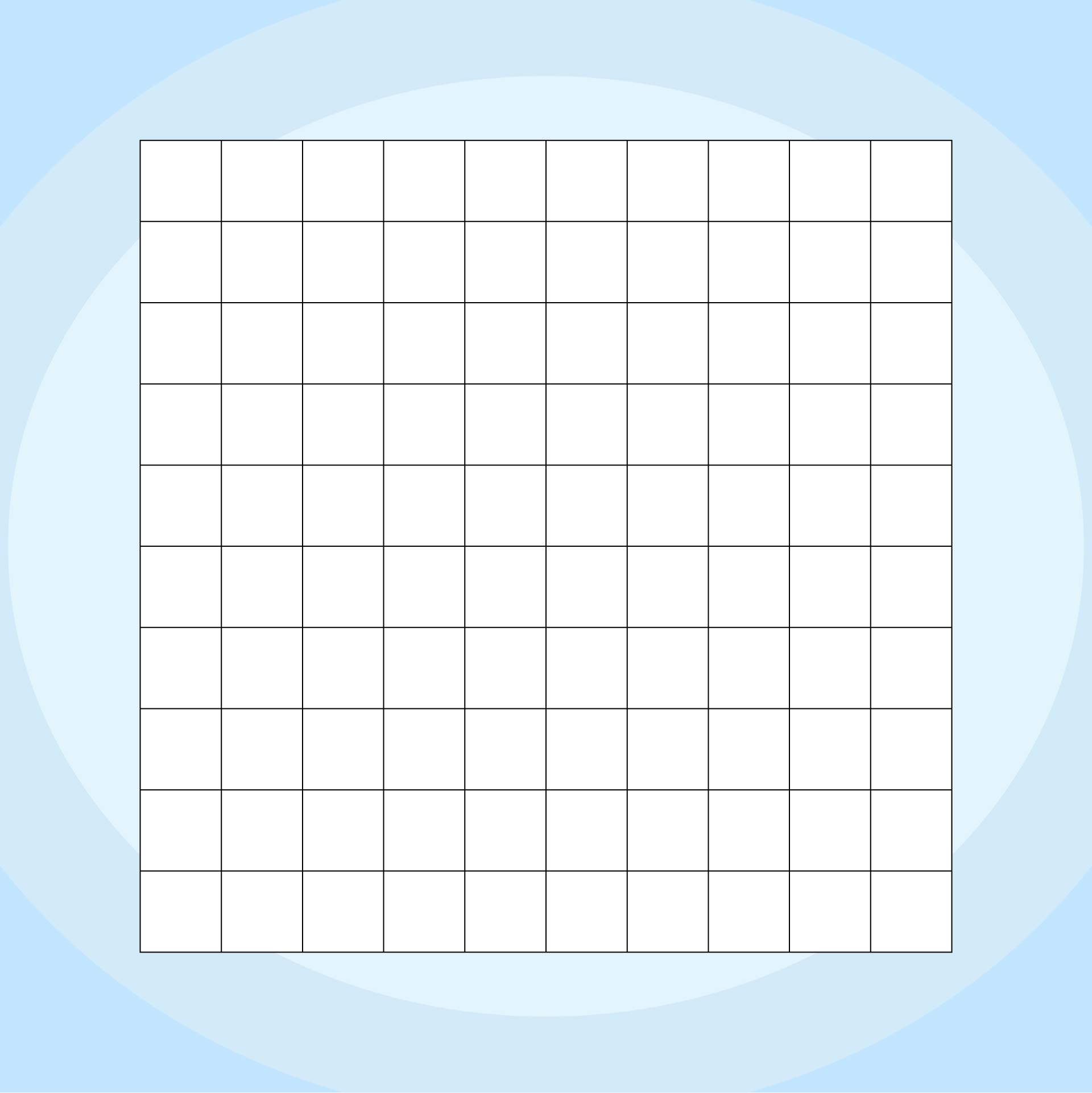 Printable Blank 100 Number Chart