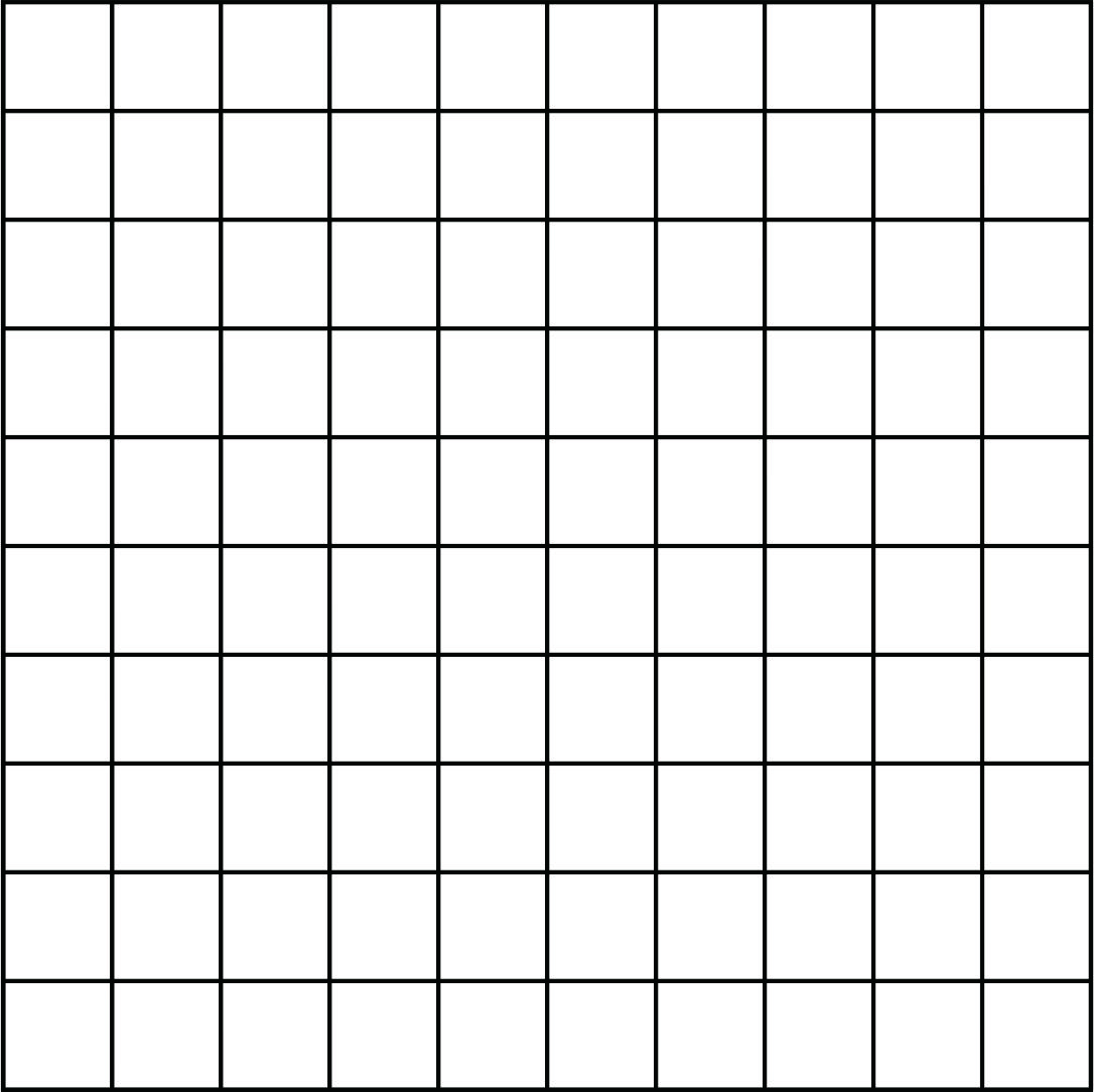 7 best images of printable blank 100 grid chart for 100 square table