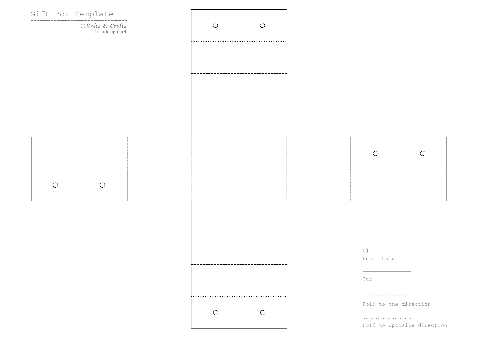 Printable Gift Boxes Templates